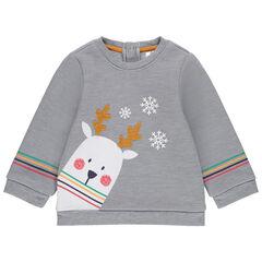 Φανελένιο φούτερ με ζωάκι σε χριστουγεννιάτικο στιλ από sherpa