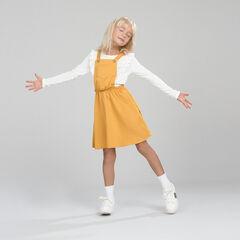 Σαλοπέτα -φόρεμα με κίτρινη τσέπη