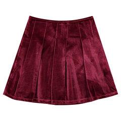 Παιδικά - Πλισέ φούστα από βελούδο