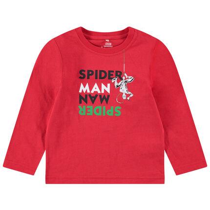 Μακρυμάνικη μπλούζα από ζέρσεϊ με μήνυμα και στάμπα Spiderman της ©Marvel