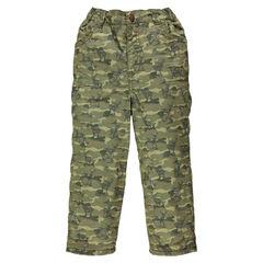 Παντελόνι με φλις επένδυση και μοτίβο παραλλαγής