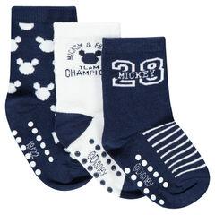 Σετ με 3 ζευγάρια κάλτσες με μοτίβο Mickey της ©Disney σε ζακάρ