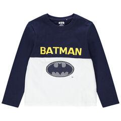 Μακρυμάνικη μπλούζα από βιολογικό βαμβάκι με λογότυπο Batman της Warner από μαγικές πούλιες