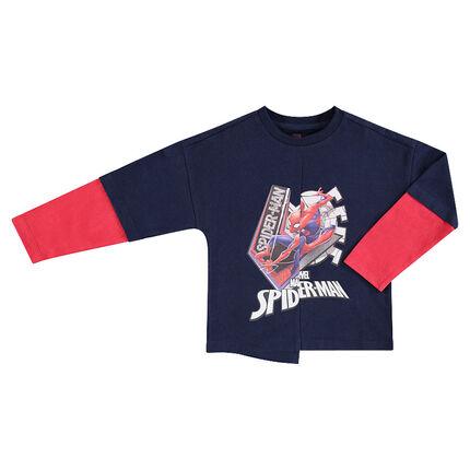 Μακρυμάνικη μπλούζα 2 σε 1 με στάμπα Spiderman της ©Marvel