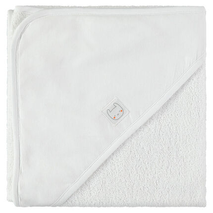Cape de bain en coton éponge
