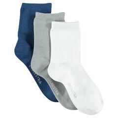Σετ με 3 ζευγάρια μονόχρωμες κάλτσες