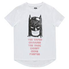 Παιδικά - Κοντομάνικη μπλούζα από ζέρσεϊ με στάμπα Batman της ©Warner
