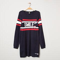 Παιδικά - Μακρυμάνικο πλεκτό φόρεμα με σήματα Smiley