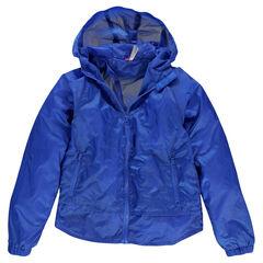 Παιδικά - Αντιανεμικό μπλε με κουκούλα