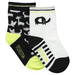 Σετ 2 ζευγάρια ασορτί κάλτσες με μοτίβο ζωάκια