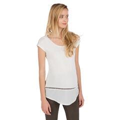 Κοντομάνικη μπλούζα εγκυμοσύνης με πλέξη αζούρ