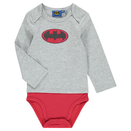 Body manches longues effet 2 en 1 avec print logo BATMAN