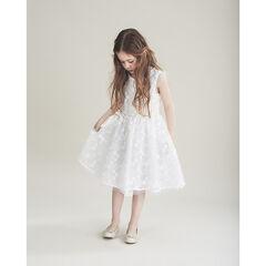 Γιορτινό κοντομάνικο φόρεμα με κεντήματα , Pomme Framboise