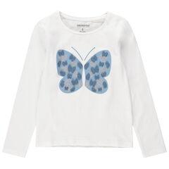 Μακρυμάνικη μπλούζα με ανάγλυφη πεταλούδα