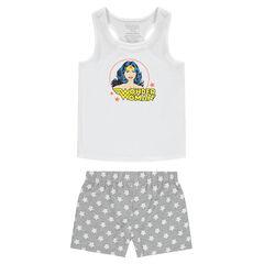Παιδικά - Ζέρσεϊ πιτζάμα με σορτς και στάμπα Wonder Woman της ©Warner