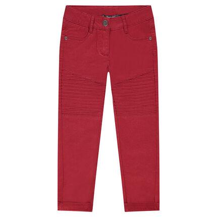 Παιδικά - Παντελόνι skinny μονόχρωμο με εξωτερικές ραφές