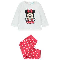 Βελουτέ πιτζάμα με κέντημα Minnie της Disney με πουά μοτίβο