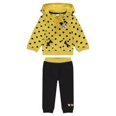 Σύνολο φόρμας από φανέλα σε κίτρινο και γκρι με τη Μίνι της Disney