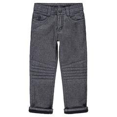 Μελανζέ παντελόνι με φλις επένδυση και εξώγαζα στα μπατζάκια