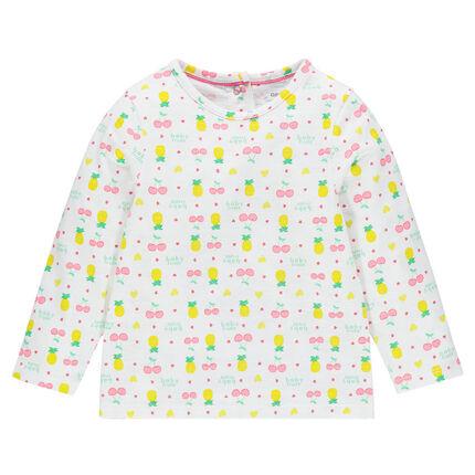 Tee-shirt manches longues imprimé fruits
