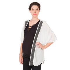 Kimono de grossesse en crêpe avec motif ikat