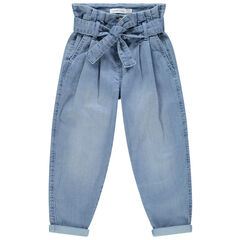 Jeans slouchy taille haute effet used