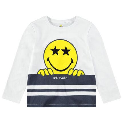 Μακρυμάνικη ζέρσεϊ μπλούζα με στάμπα ©Smiley