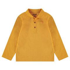 Παιδικά - Μακρυμάνικο πόλο από ζέρσεϊ slub ύφασμα με τυπωμένο λογότυπο