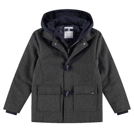 Παιδικά - Παλτό σε στυλ μοντγκόμερι από μάλλινη τσόχα με κουκούλα ... c38a9164947