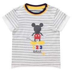 Κοντομάνικη μπλούζα με στάμπα Μίκυ της ©Disney
