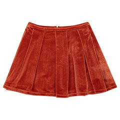 Πλισέ φούστα από βελούδο