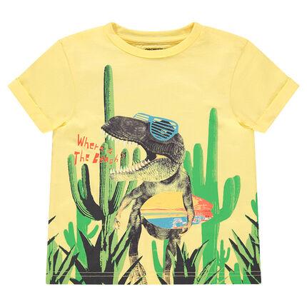 Κοντομάνικη μπλούζα με στάμπα δεινόσαυρο