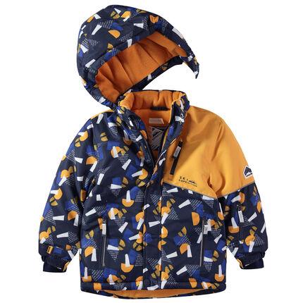 Αδιάβροχο μπουφάν του σκι με γεωμετρικό μοτίβο σε όλη την επιφάνεια