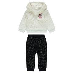 Φόρμα με ζακέτα από sherpa και παντελόνι με μπάλωμα με μονόκερο