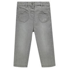 Τζιν με ελαστική μέση και τσέπες
