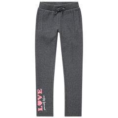Παντελόνι φόρμας με τυπωμένη ροζ φράση