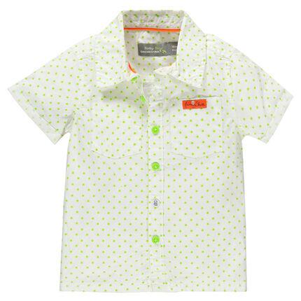 Κοντομάνικο εμπριμέ πουκάμισο με μοτίβο αστέρια και τσέπες