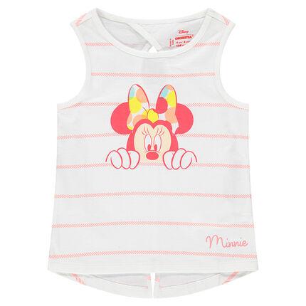 Αμάνικο ριγέ μπλουζάκι με στάμπα Μίνι της ©Disney