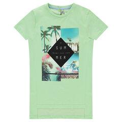Παιδικά - Μακριά κοντομάνικη μπλούζα με τυπωμένα τοπία
