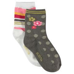 Σετ με 2 ζευγάρια ασορτί κάλτσες