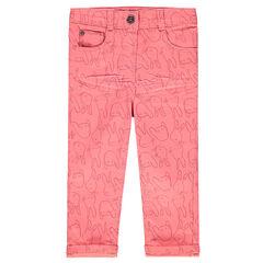 Παντελόνι slim με σχέδιο λαγουδάκια