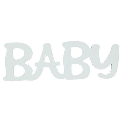 """Λέξη """"BABY"""" από βαμμένο ξύλο"""