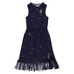 Αμάνικο φόρεμα από τούλι με αστέρια και σήματα από πούλιες