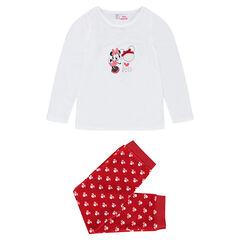 Βελουτέ πιτζάμα Disney με κεντημένη καρδούλα και στάμπα Minnie