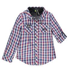 Μακρυμάνικο καρό πουκάμισο με 2 τσέπες