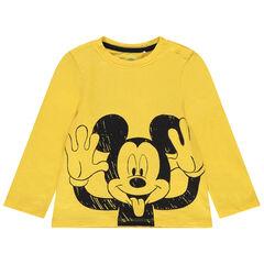 Μακρυμάνικη μπλούζα από βιολογικό βαμβάκι με στάμπα Μίκυ της Disney