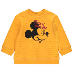 Φούτερ από φανέλα με ανάγλυφη ύφανση και στάμπα τον Μίκυ της Disney