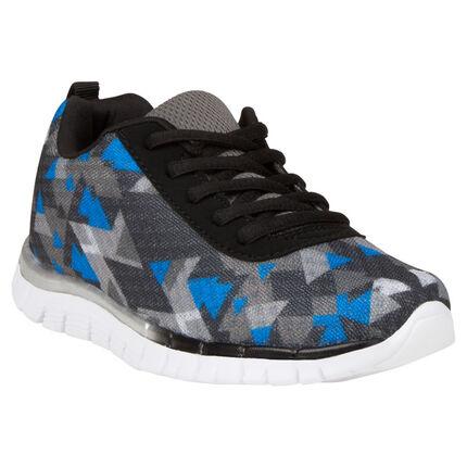 Χαμηλά αθλητικά παπούτσια με γεωμετρικά τρίγωνα