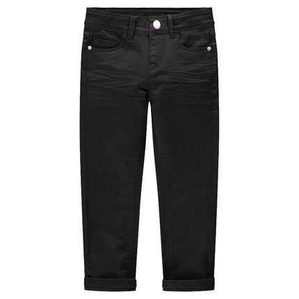 Παιδικά - Slim παντελόνι από βαμβακερό τουίλ με μόνιμες τσακίσεις