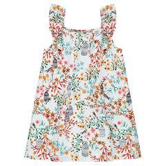 Αμάνικο εμπριμέ φόρεμα με φλοράλ μοτίβο